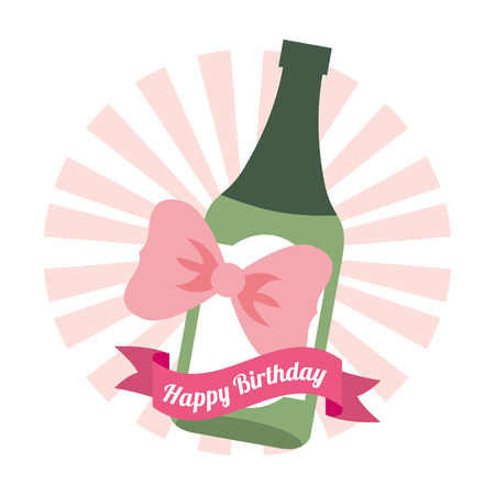 wine background: happy birthday card design, vector illustration  Illustration