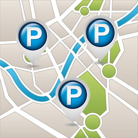 pointes: parking service design, vector illustration   Illustration