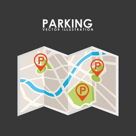 rules of road: parking service design, vector illustration   Illustration