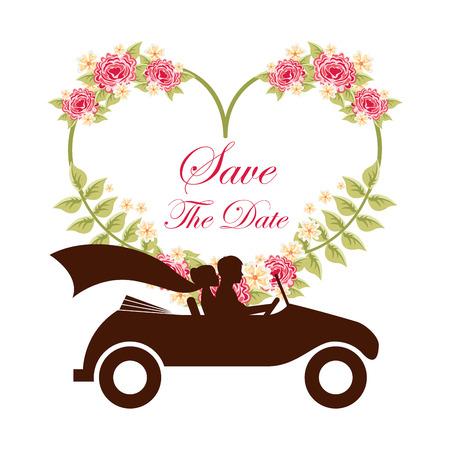 diseño de la invitación de la boda, ilustración vectorial