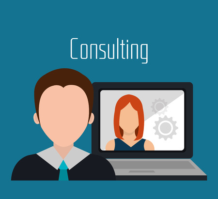 business consulting: Business consulting graphic design, vector illustration eps10