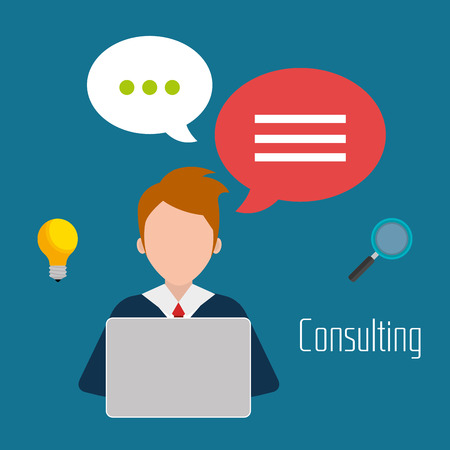 briefing: Business consulting graphic design, vector illustration eps10