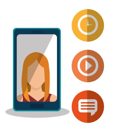 socializando: Los medios sociales y marketing digital diseño gráfico, ilustración vectorial eps10 Vectores