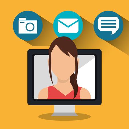 socialising: Los medios sociales y marketing digital diseño gráfico, ilustración vectorial eps10 Vectores