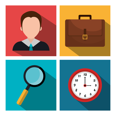 time sharing: Business consulting graphic design, vector illustration eps10
