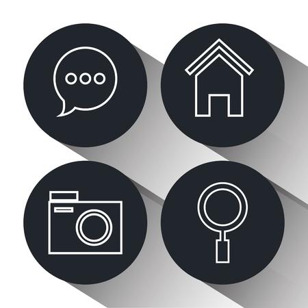 socializando: Social media and digital marketing graphic design, vector illustration eps10 Vectores