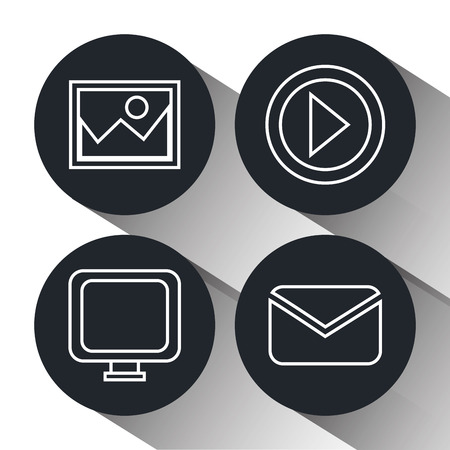 socializing: Social media and digital marketing graphic design, vector illustration eps10 Illustration