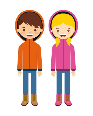 winter girl: winter clothes design, vector illustration eps10 graphic