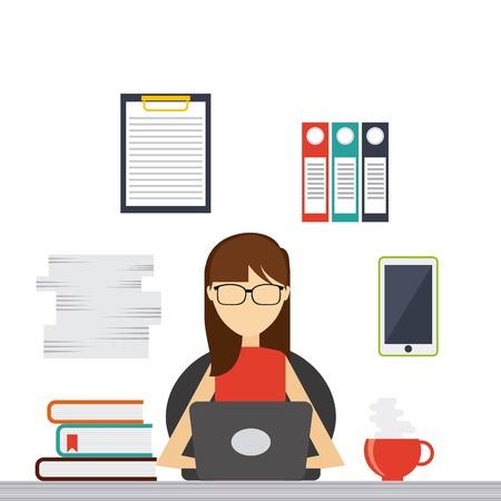 personas trabajando: las personas que trabajan de diseño, ilustración vectorial gráfico eps10 Vectores
