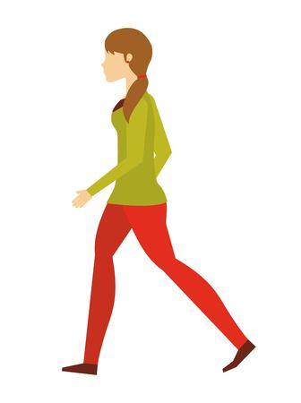 person walking: people walking design, vector illustration eps10 graphic