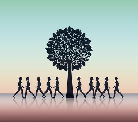 people walking design, vector illustration eps10 graphic