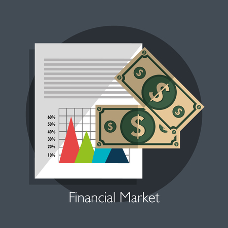 stock broker: Financial market graphic design, vector illustration eps10
