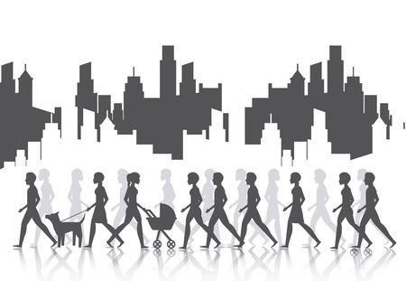 exercise silhouette: people walking design, vector illustration eps10 graphic