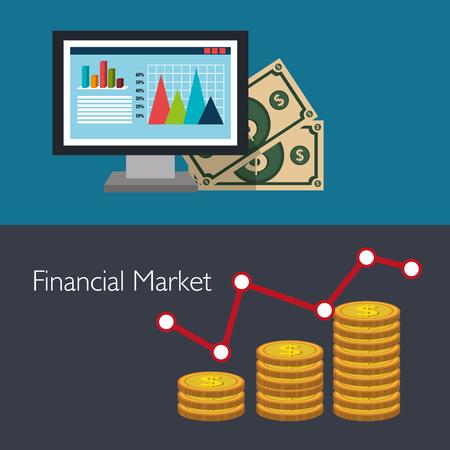 financial market: Financial market graphic design, vector illustration eps10
