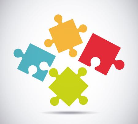 organise: puzzle concept design, vector illustration eps10 graphic Illustration