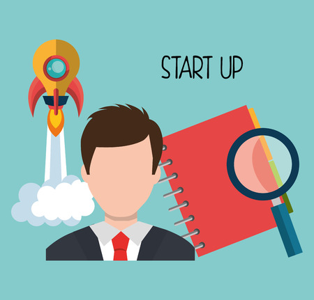 founding: Start up company and business graphic design, vector illustration