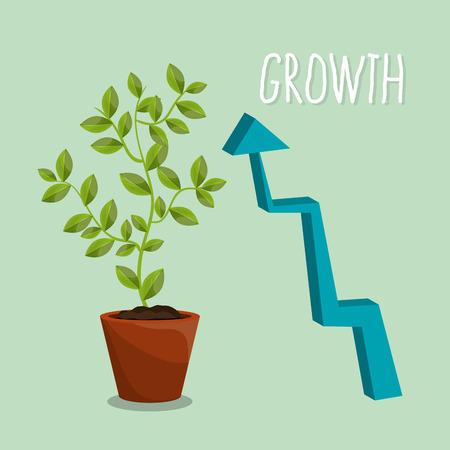 Nature plants growth graphic design, vector illustration eps10