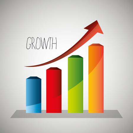 profits: Business profits growth graphic design, vector illustration eps10 Illustration