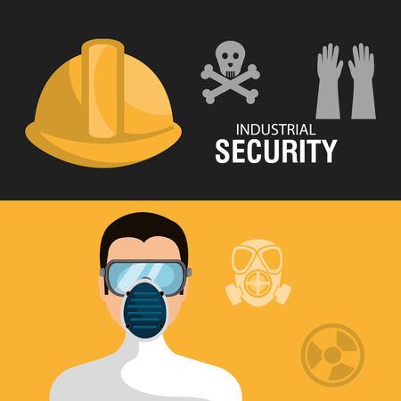 Industrial security equipment graphic design, vector illustration