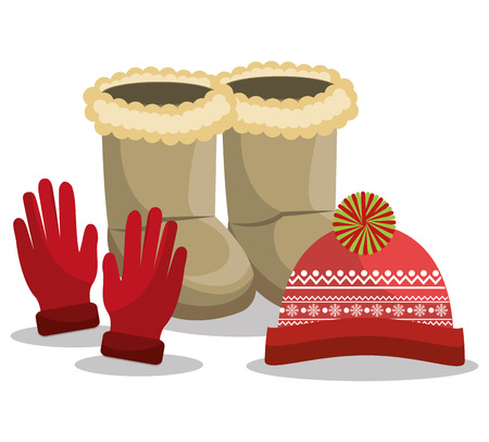accesories: Winter fashion clothes and accesories, graphic design, vector illustration