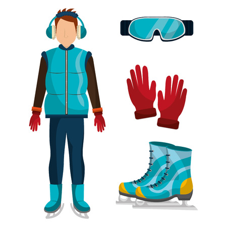 winter fashion: Winter fashion clothes and accesories, graphic design, vector illustration