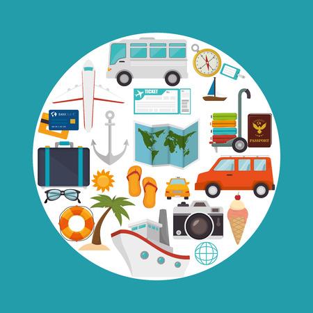 cruiser: Summer, travel and vacations graphic design, vector illustration Illustration
