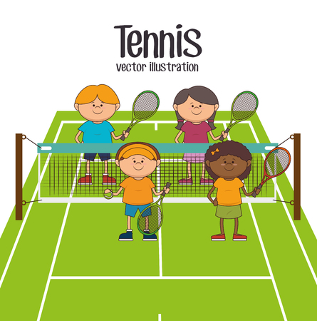 Tennis sport game graphic design, vector illustration 版權商用圖片 - 48951670