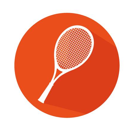raqueta de tenis: Tenis juego de deportes diseño gráfico, ilustración vectorial