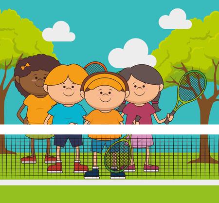 hapiness: Tennis sport game graphic design, vector illustration
