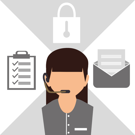 grahic: Customer service and technical support grahic design, vector illustration Illustration