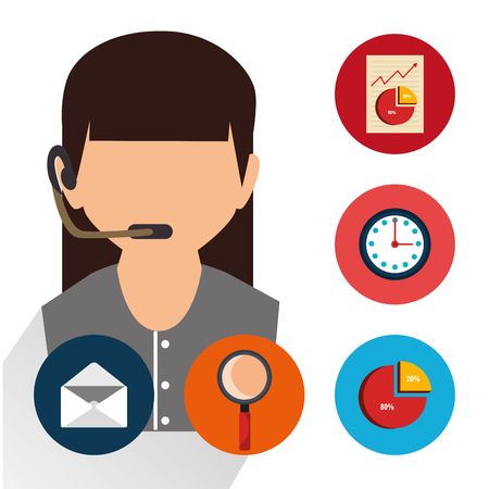 Customer service and technical support grahic design, vector illustration Illustration
