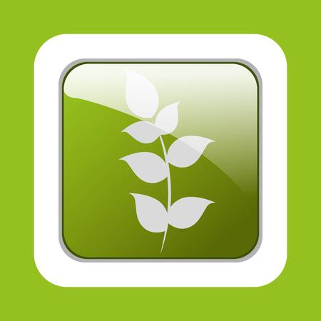 Ecology leaves, leaf graphic design icons, vector illustration Illustration
