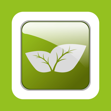 botan: Ecology leaves, leaf graphic design icons, vector illustration Stock Photo