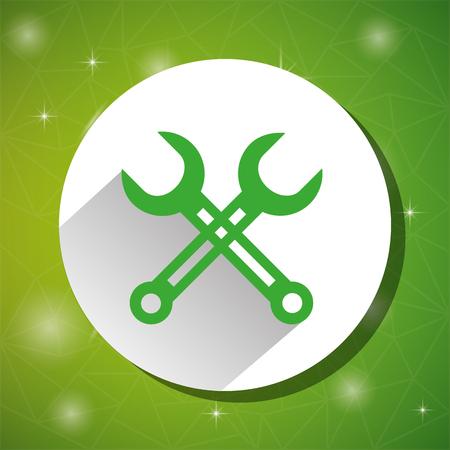 greeen: Green tools Line icon design, vector illustration eps10
