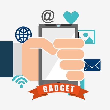 gadget: technology gadget design, vector illustration eps10 graphic