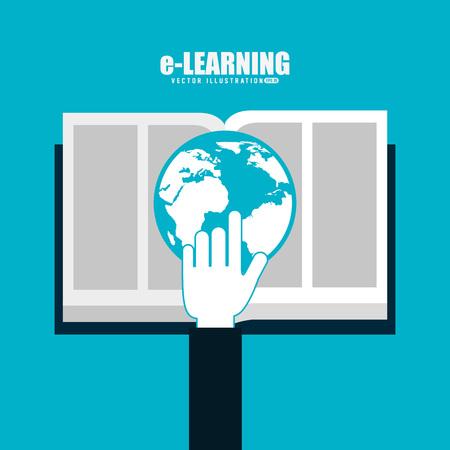 echnology: e-learning  concept design, vector illustration eps10 graphic Illustration