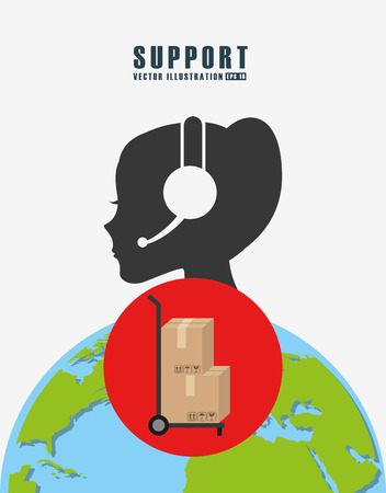 seven persons: support service design, vector illustration eps10 graphic Illustration