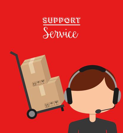 emergency cart: support service design, vector illustration eps10 graphic Illustration