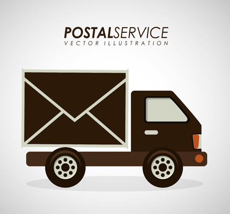 contact icon: postal service design, vector illustration eps10 graphic Illustration