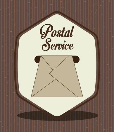 postal service: postal service design, vector illustration eps10 graphic Illustration