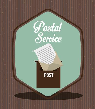 postal: postal service design, vector illustration eps10 graphic Illustration