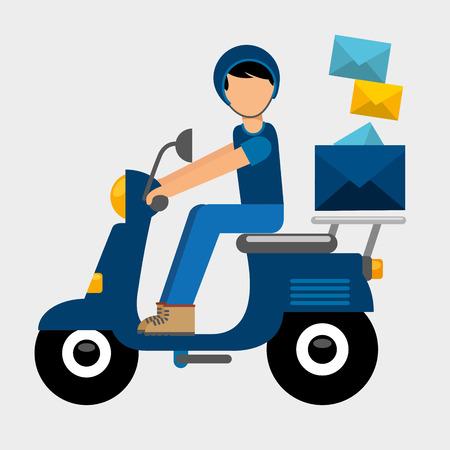 postal service design, vector illustration eps10 graphic Ilustração