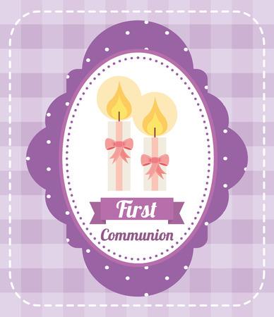 comunion: primer dise�o de la tarjeta de la comuni�n, ilustraci�n vectorial gr�fico eps10