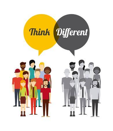diferent: think diferent design, vector illustration eps10 graphic Illustration