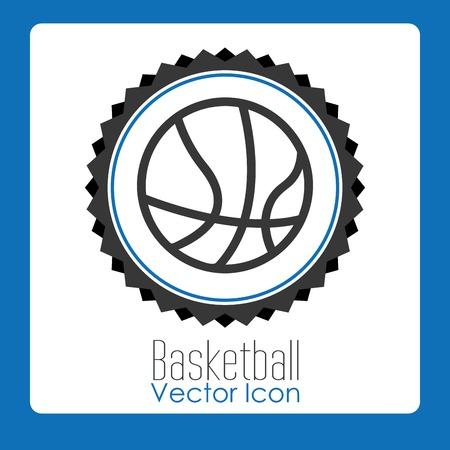 balon de basketball: diseño de la liga de baloncesto, ilustración vectorial gráfico eps10