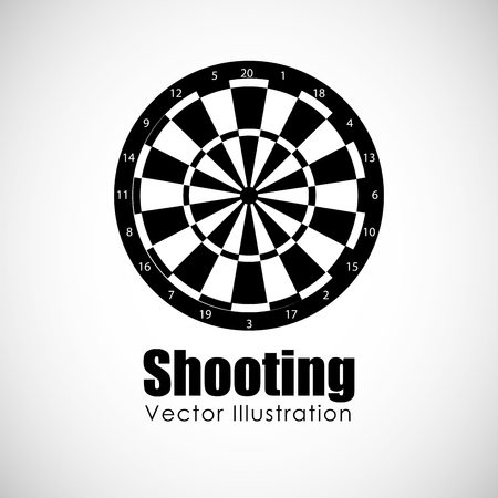 target shooting: target shooting design, vector illustration eps10 graphic