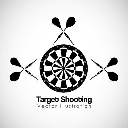 target shooting: target shooting design, vector illustration eps10 graphic