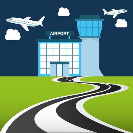 desig: airport terminal desig Illustration