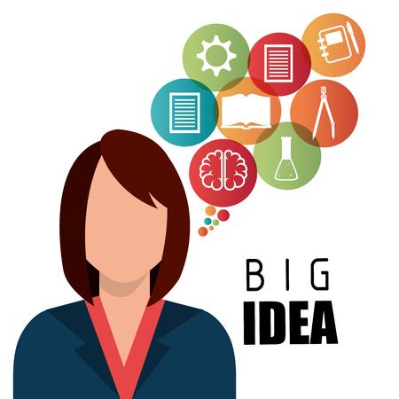 mentality: Human brain creative ideas graphic design