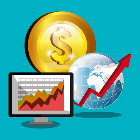 financial market: Financial market and stock market graphic design, vector illustration